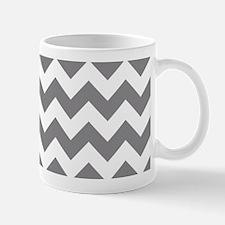 Chevron in Titanium Gray Mugs