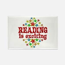 Reading is Exciting Rectangle Magnet