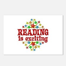 Reading is Exciting Postcards (Package of 8)