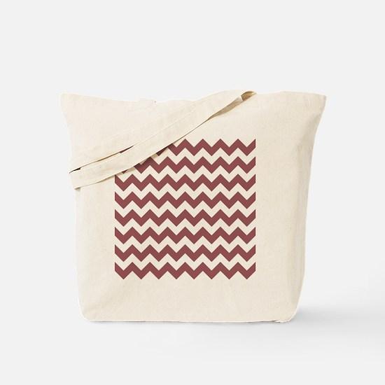 Marsala Chevrons Tote Bag