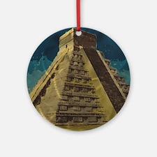Cute Mayan Round Ornament