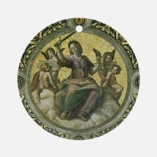 Justice by Raphael Ornament (Round)
