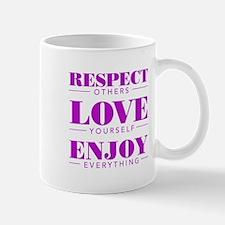 Respect Love Enjoy - Mugs