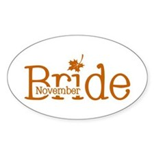 November Bride Oval Decal