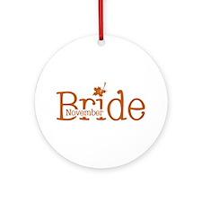 November Bride Ornament (Round)