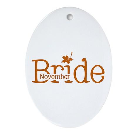November Bride Oval Ornament
