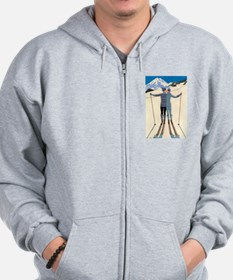 Art Deco by George Barbier Zip Hoodie