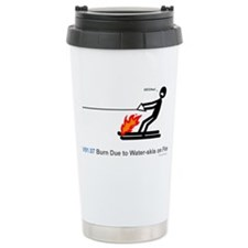 V91.07 Burn due to water-skis on fire Travel Mug