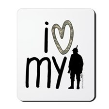 I Heart My Soldier Mousepad