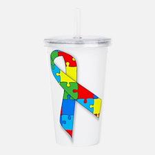 Autism Ribbon Acrylic Double-wall Tumbler