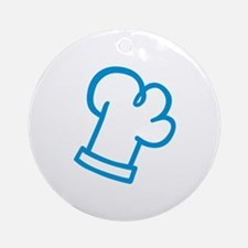 Blue chef cook Ornament (Round)