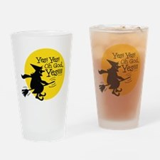 Funny Halloween Witch Halloween Drinking Glass