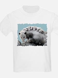 Possum Family on a Log T-Shirt