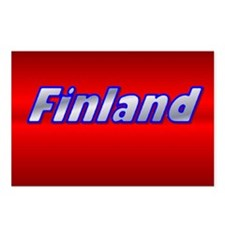"""Package of 8-4""""x6"""" Finland Gill Sans Postcards"""