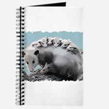Possum Family on a Log Journal
