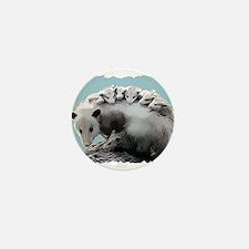 Possum Family on a Log Mini Button (10 pack)