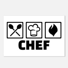 Chef cook equipment Postcards (Package of 8)