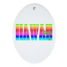 Hawaiian Sunset Oval Ornament
