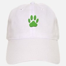 Dog Paw Print With Chevron Pattern Baseball Baseball Cap