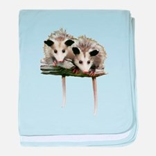 Baby Possums on a Branch baby blanket