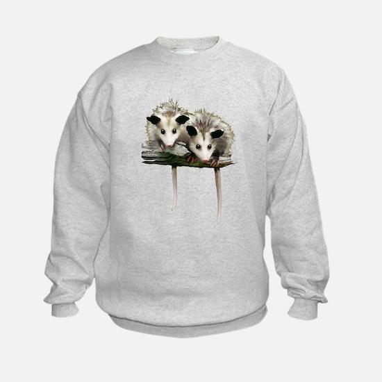 Baby Possums on a Branch Sweatshirt
