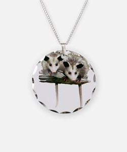 Baby Possums on a Branch Necklace