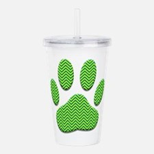 Dog Paw Print With Che Acrylic Double-wall Tumbler