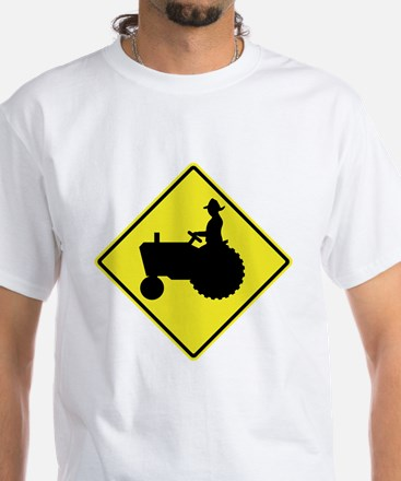 Tractor Crossing 2 White T-Shirt