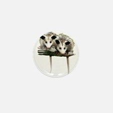 Baby Possums on a Branch Mini Button (10 pack)