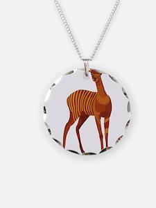 Striped Deer Necklace