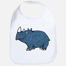 Blue Polka Dot Rhino Bib