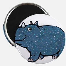 Blue Polka Dot Rhino Magnets
