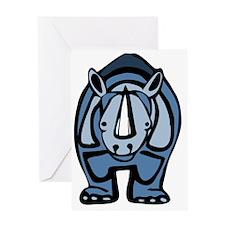Blue Rhino Virus Greeting Cards