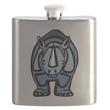 Blue Rhino Virus Flask