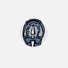 Blue Rhino Virus Mini Button