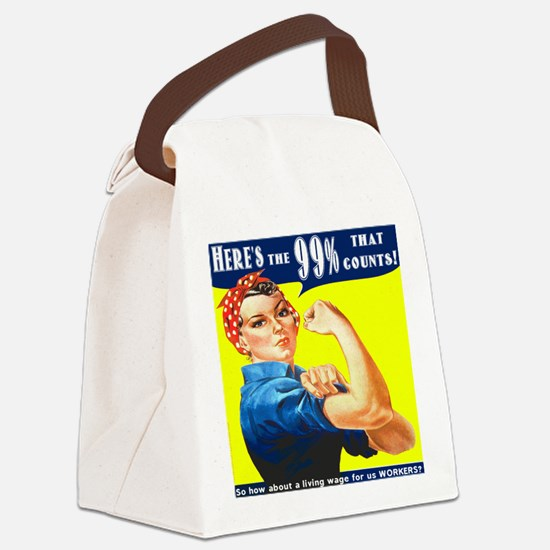 Heres the 99 Percent That Counts Canvas Lunch Bag