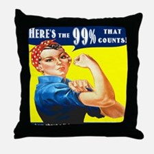 Heres the 99 Percent That Counts Throw Pillow