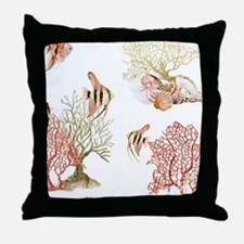 Tropical Coral Reef Angelfish Angel F Throw Pillow
