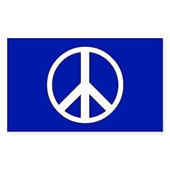 PEACE Sticker (Rect.)