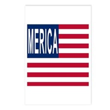 MERICA with Merican Flag Postcards (Package of 8)
