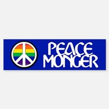 PEACE MONGER Bumper Car Car Sticker