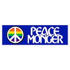 PEACE MONGER Bumper Car Sticker