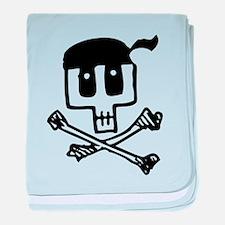 Pirate Skull and Crossbones baby blanket