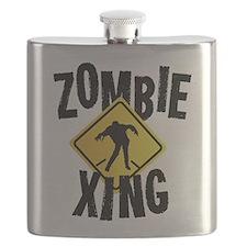 Zombie Crossing Flask