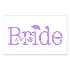 April Bride Rectangle Decal