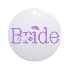 April Bride Ornament (Round)
