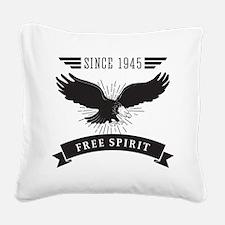 Birthday Born 1945 Free Spiri Square Canvas Pillow