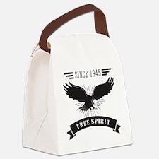 Birthday Born 1945 Free Spirit Canvas Lunch Bag