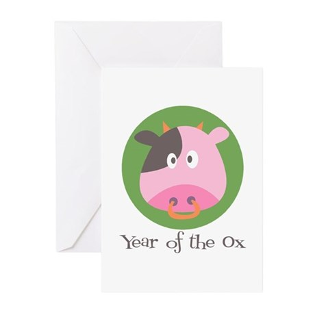Cartoon Year of the Ox Greeting Cards (Pk of 20)