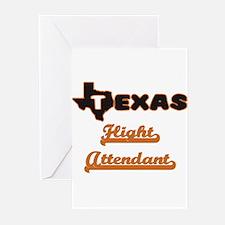 Texas Flight Attendant Greeting Cards